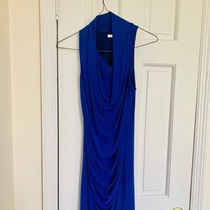 Royal blue Helmut Lang stretchy fitted dress s